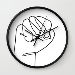 Fist Up Hand - Resistant Art Wall Clock