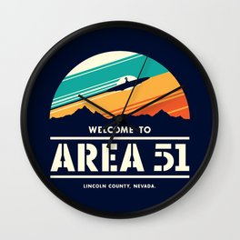 Welome to Area 51 Wall Clock