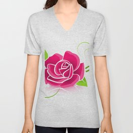 Wall Tapestries, Pillows, Soft Cases, Beautiful Rose Bouquets Unisex V-Neck