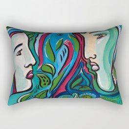 Art by Armando Renteria Organically Driven Rectangular Pillow
