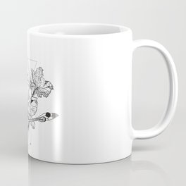 Alchemy symbol with moon and flowers Coffee Mug