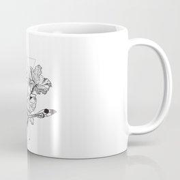 Alchemy symbol with moon and flowers Coffee Mug