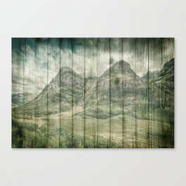 Rustic Country Wood Mountains Landscape Canvas Print