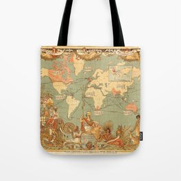 Map Of The British Empire 1886 Tote Bag