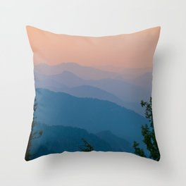 Complementary Mountains Throw Pillow