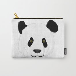 Cute Smiling Panda Bear Face Carry-All Pouch
