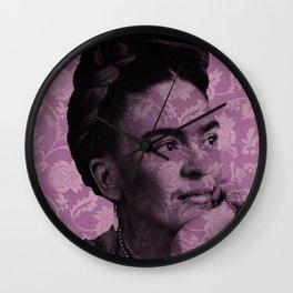 Purple Frida Kahlo Wall Clock