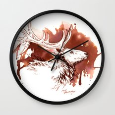 Wapiti Wall Clock