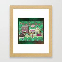 Earthbound town Framed Art Print