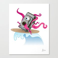 Monster Camera Surfing Canvas Print