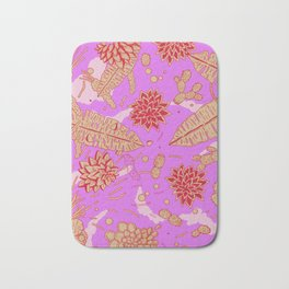 Warm Flower Bath Mat