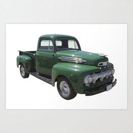 Green 1951 Ford F-1 Pickup Truck  Art Print