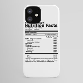 Black Girl Magic Nutrition Facts iPhone Case