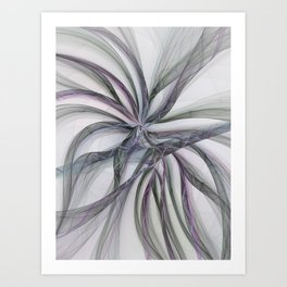 Filigree Motions, Abstract Fractal Art Art Print