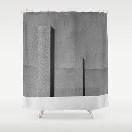 Concrete Posts 2 Shower Curtain