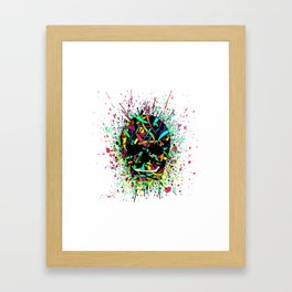 COLOUR SKULL  Framed Art Print
