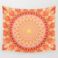 spiritual Wall Tapestries featuring Mandala spiritual strength by Christine baessler