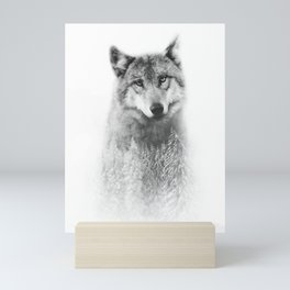 The Wolf and the Forest Mini Art Print