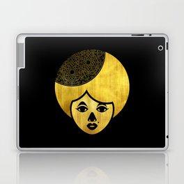 Golden Bronze Girl Laptop & iPad Skin