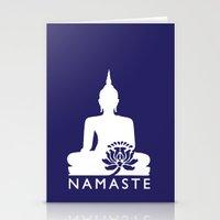 namaste Stationery Cards featuring Namaste by AleDan