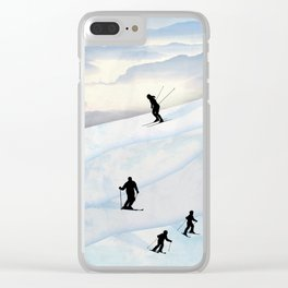 Skiing in Infinity Clear iPhone Case