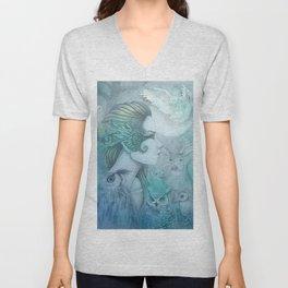 Spirit of Artemis 2 Goddess Art Unisex V-Neck