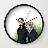 haikyuu Wall Clocks featuring Haikyuu!! Daisuga by Arisu