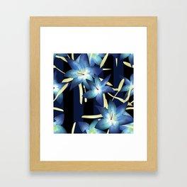 Dark blue lilies 2 Framed Art Print