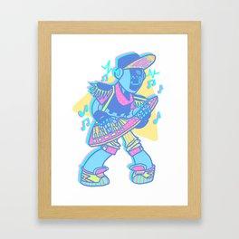 Keytar Jammin Framed Art Print