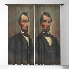 Oil Painting of Abraham Lincoln (1809-1865) by The Alfred Whital Stern Collection of Lincolniana col Blackout Curtain