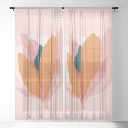 Abstraction_Floral_Blossom Sheer Curtain