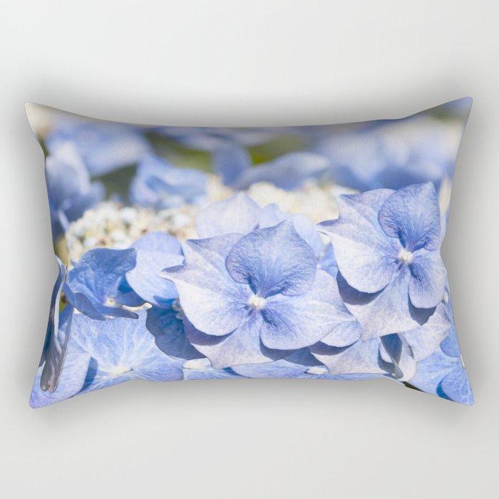 Blue hydrangea- Flower Floral Rectangular Pillow