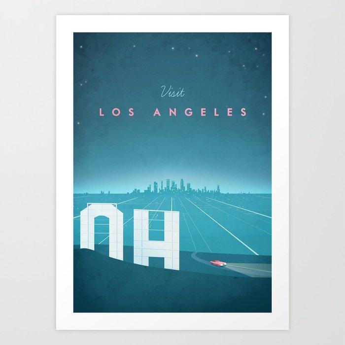 Vintage Los Angeles Travel Poster Kunstdrucke