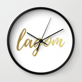 Lagom - Gold Foil Wall Clock