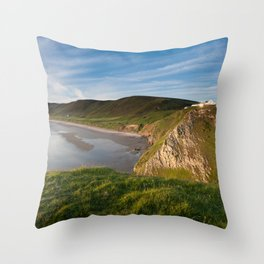 Rhossili bay Throw Pillow