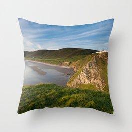 Rhossili bay Throw Pillow