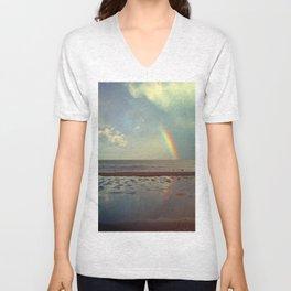 Rainbow Over Sea Unisex V-Neck