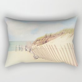 Sand Fence to the Beach Rectangular Pillow