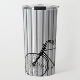 Vintage bike on white Travel Mug