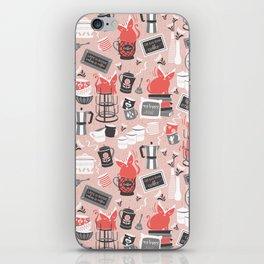 Modern farmhouse coffee station // pink iPhone Skin