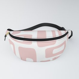 Retro Mid Century Modern Abstract Pattern 732 Dusty Rose Fanny Pack