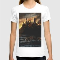 harry potter T-shirts featuring Harry Potter - Hogwart's Burning by Juniper Vinetree