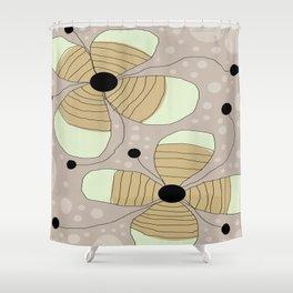 FLOWERY NINA / ORIGINAL DANISH DESIGN bykazandholly Shower Curtain