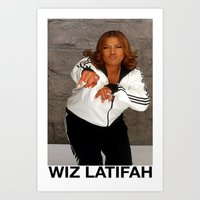 wiz khalifa Art Prints featuring Wiz Latifah by 6triangles