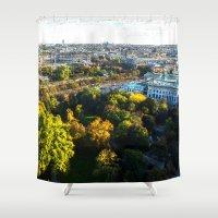 vienna Shower Curtains featuring my hometown of Vienna by MehrFarbeimLeben