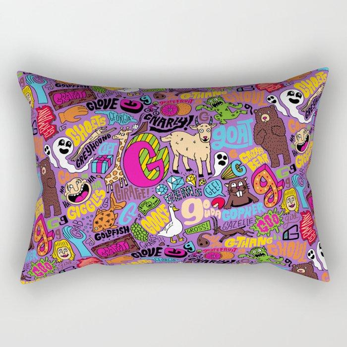 G Pattern Rectangular Pillow