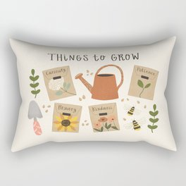 Things to Grow - Garden Seeds Rectangular Pillow