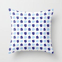 spot and blot 20 blue Throw Pillow