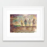 trainspotting Framed Art Prints featuring Trainspotting - coffee & watercolour by emmy.