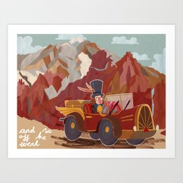 Arnold drives Art Print